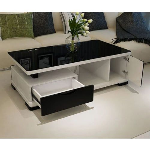 Table Basse Moderne Gloss Multi Niveaux Blanc Noir 3 Of 4 Table De Salon Moderne Table Basse Moderne Design De Table