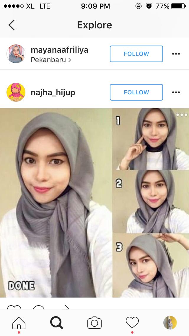 Pin oleh Rivani Noviarifta di Hijab Tutorial hijab mudah