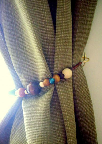 Diy Curtain Tie Backs Diy Curtains Curtain Tie Backs