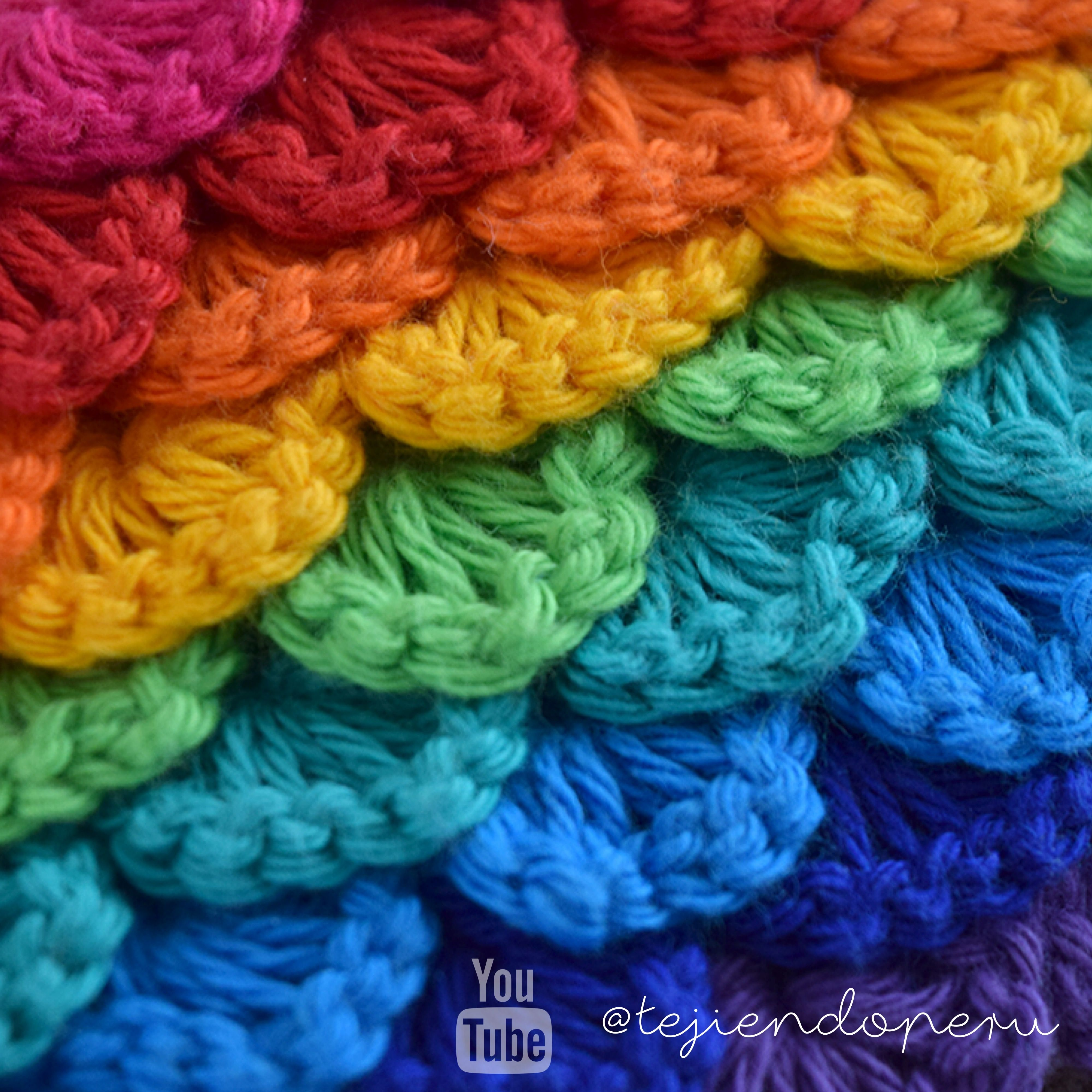 Crochet: punto lentejuelas! Video tutorial del paso a paso Crochet ...