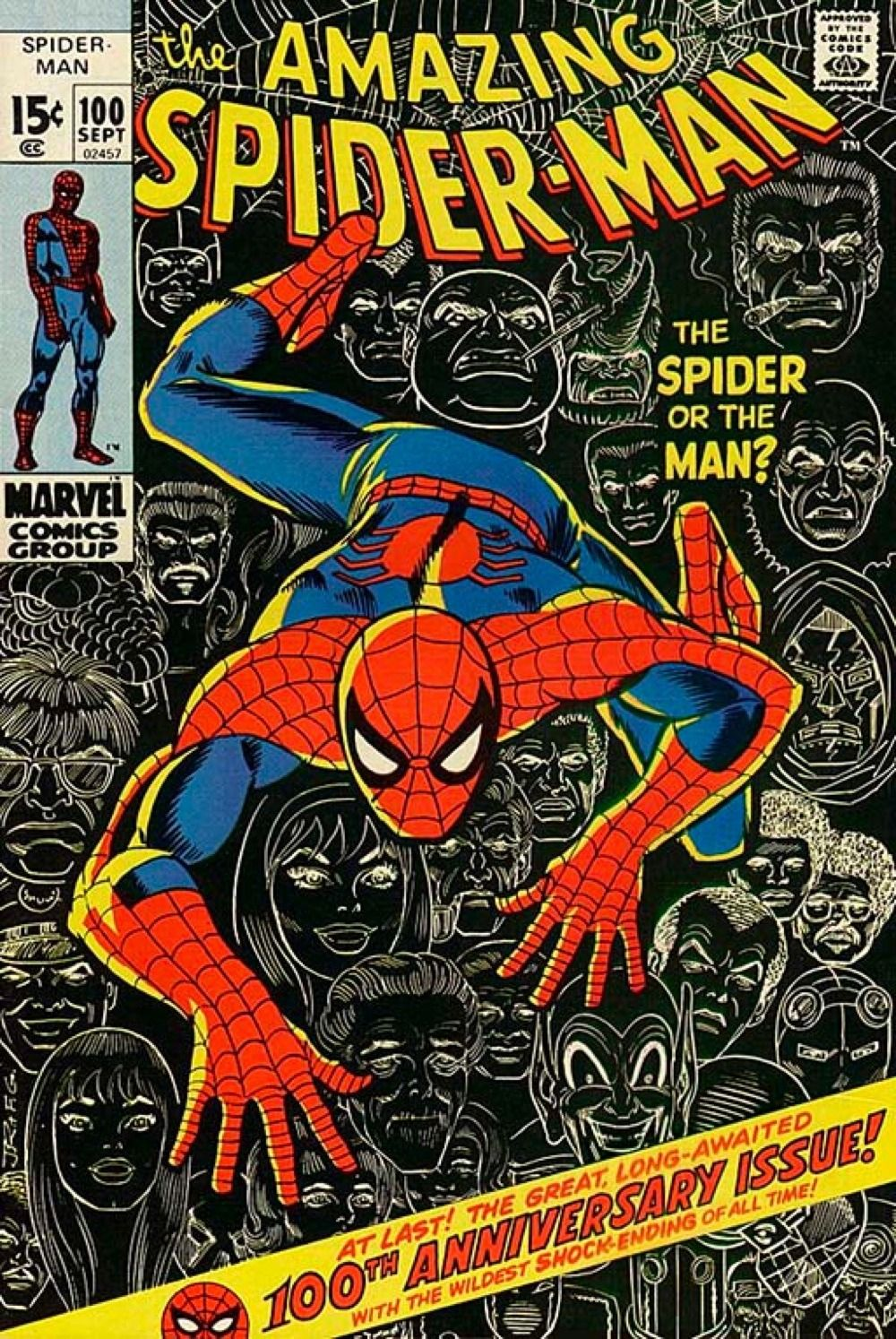 The Amazing Spider Man 100 200 300 400 500 600 700 Covers By Respectively Gil Kan Amazing Spider Man Comic Spiderman Comic Marvel Comics Vintage