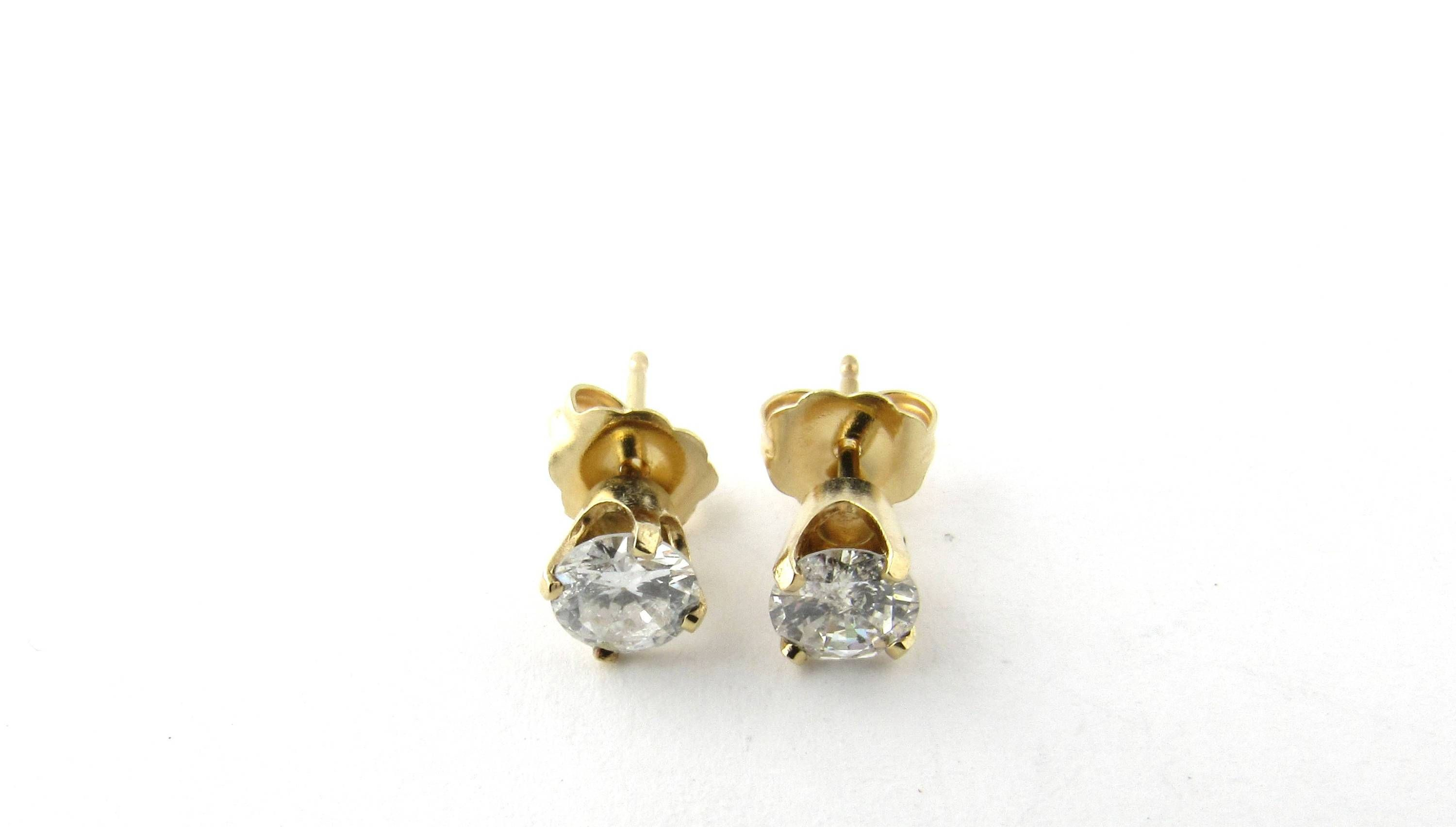 l diamond round cut stud earrings antique vintage baguette