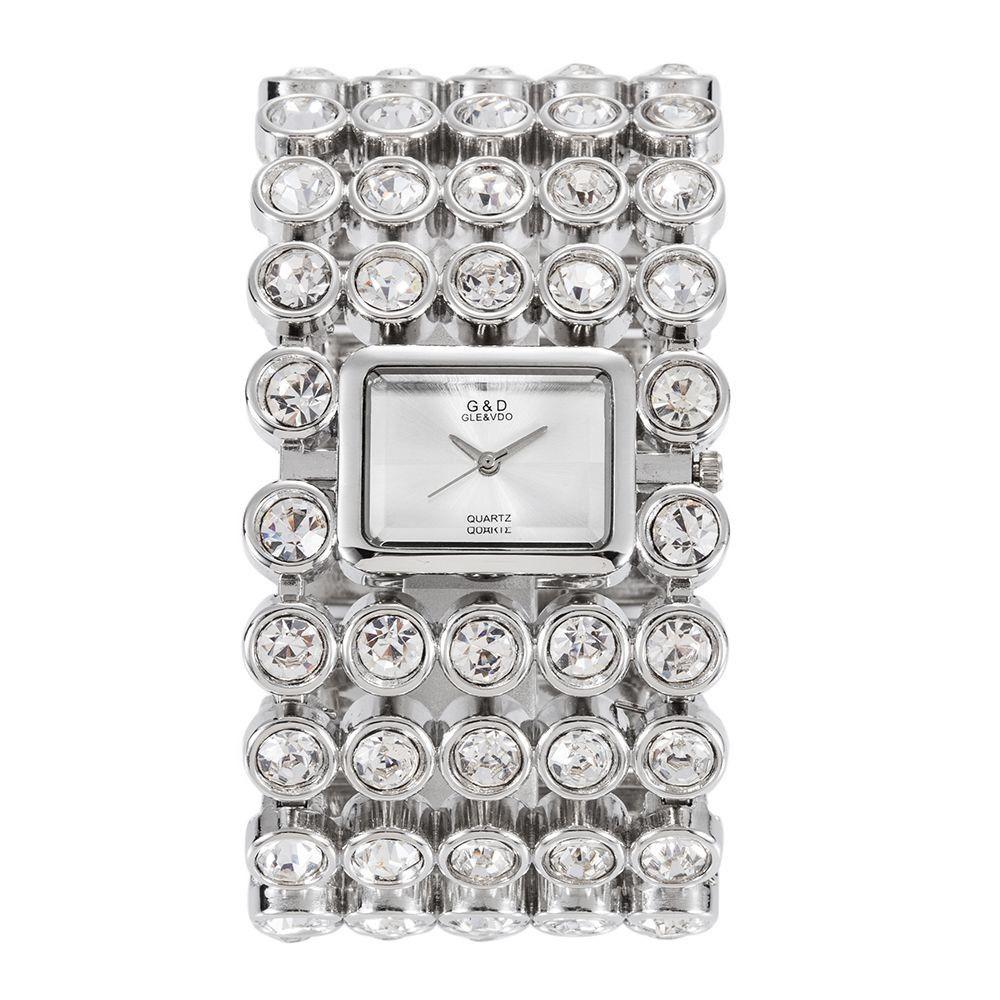 2016 New Casual Womens Horloges Vrouwen Watches Top Brand Bracelet Watch Quartz Big Starp Crystal Women Wristwatch Free Ship