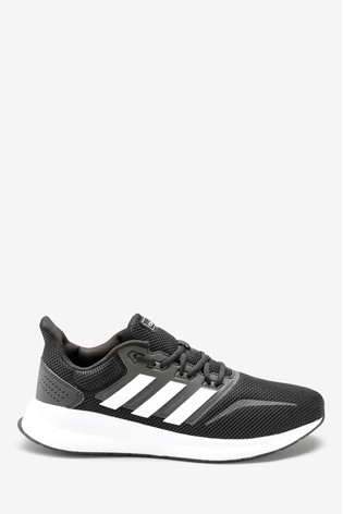 Black/White adidas Run Falcon Trainers