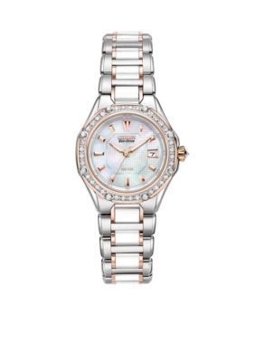 4c5c55bdf95133 Citizen Women's Women's Eco-Drive Signature Watch With Diamond Accents - Two -Tone - One Size