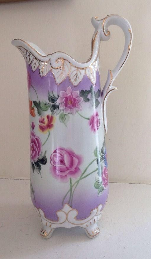 This Listing Is For A Large Footed Water Pitcher Or Vase Made By