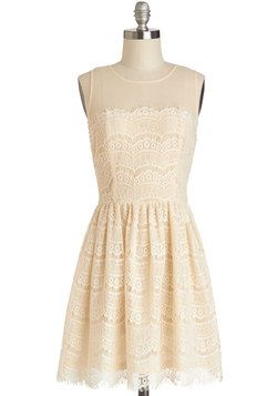 Fashionably Undulate Dress in Cream, #ModCloth
