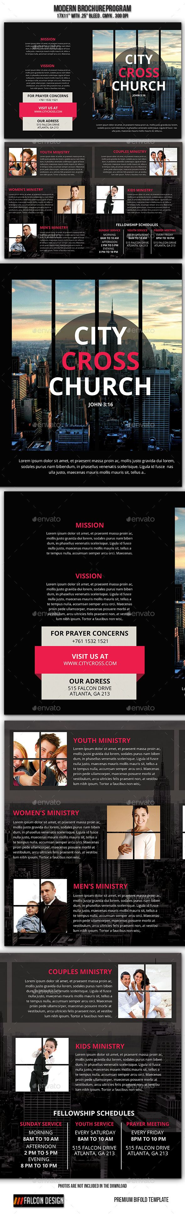 modern church brochure brochures font logo and fonts