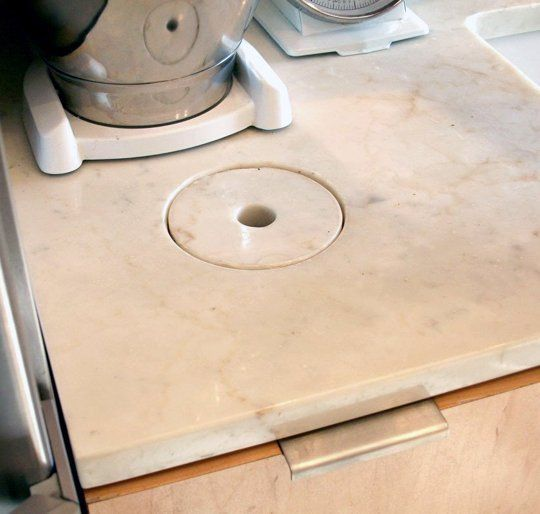 Hole Garbage Chute : Countertop holes for compost trash why a chute is