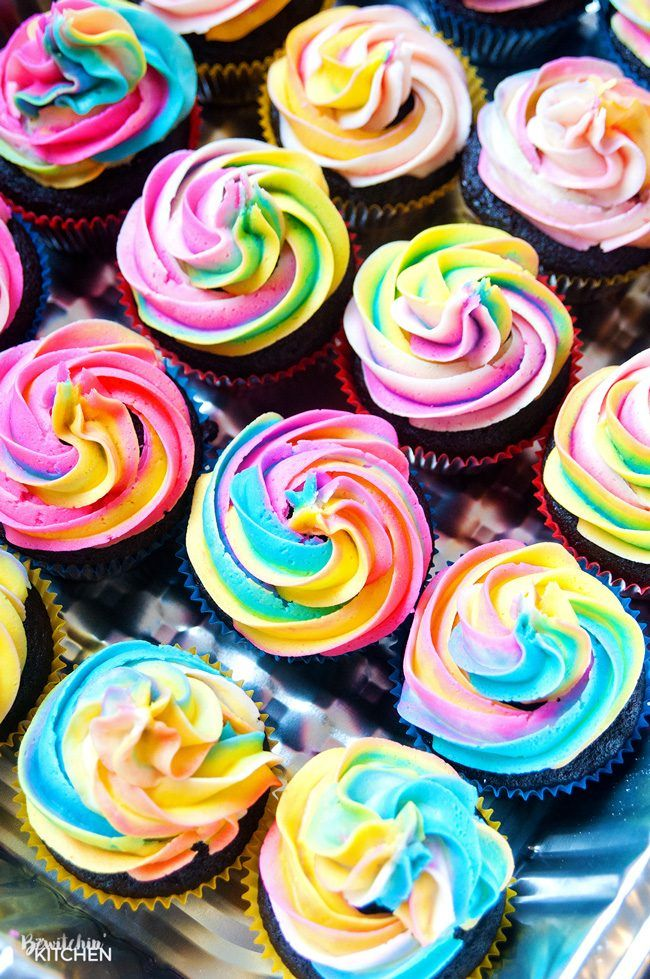 Rainbow Swirl Buttercream Frosting Recipe Swirl
