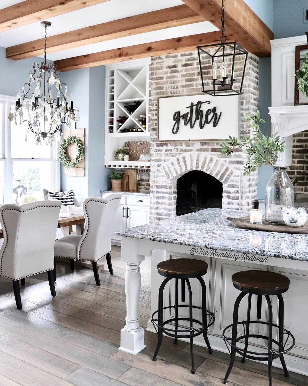 This modern farmhouse is absolutely beautiful! ️ What do