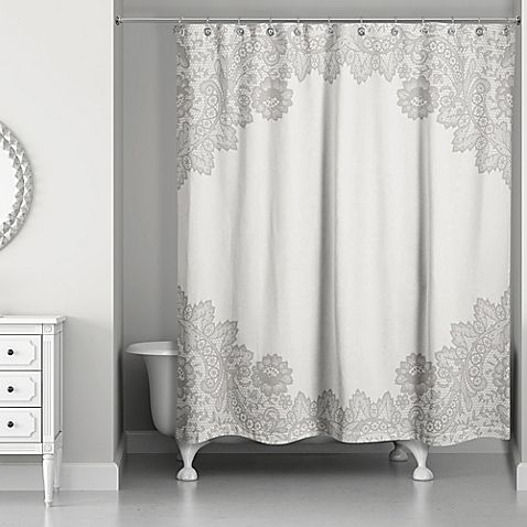 Designs Direct Brown Lace Shower Curtain Lace Shower Curtains