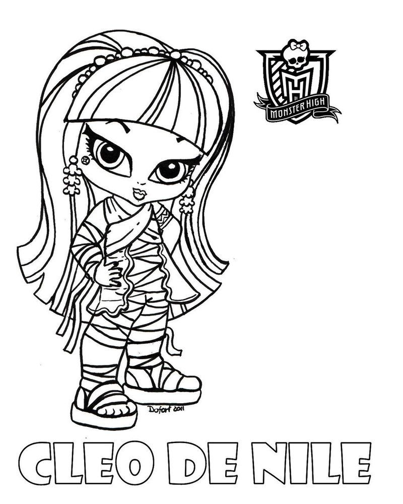 Baby Cleo printable coloring sheet from JadeDragonne at Deviant Art ...