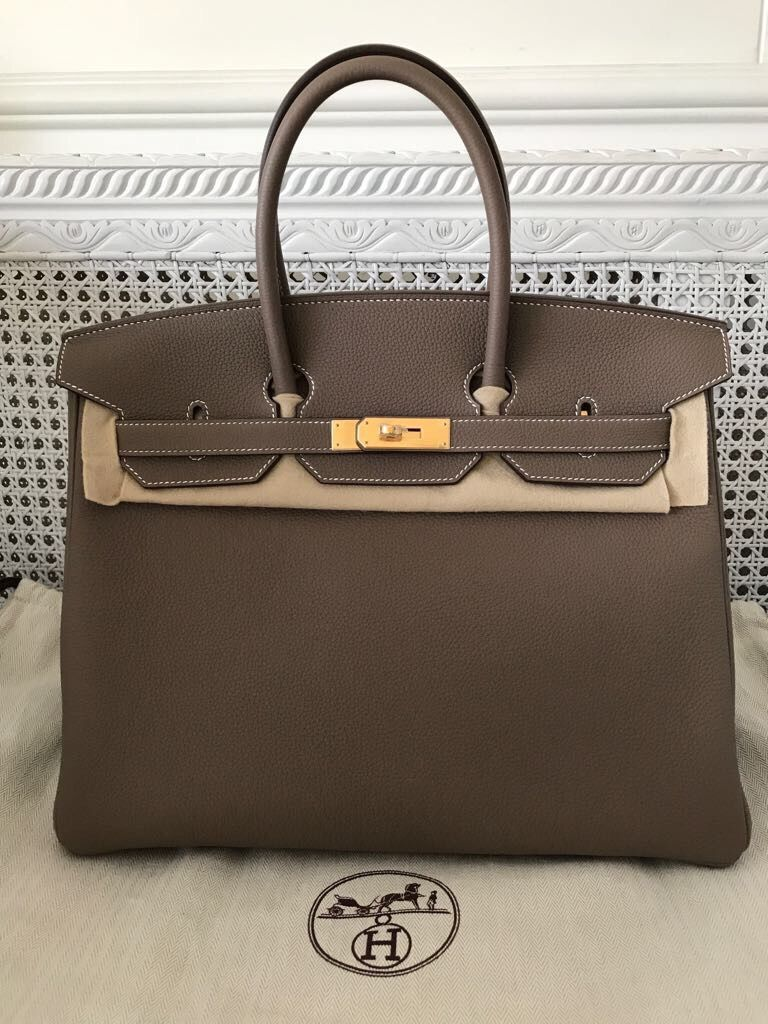 5aaefd5e42 Model  Hermes Birkin 35 Condition  New Stamp  A Color  Etoupe Leather