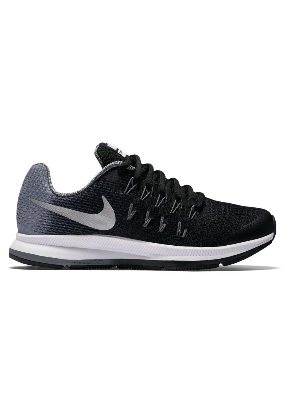 370f58ce453 Nike Air Zoom Pegasus 33 GS Kids - Chaussures running pour Enfant Unisexe -  Noir