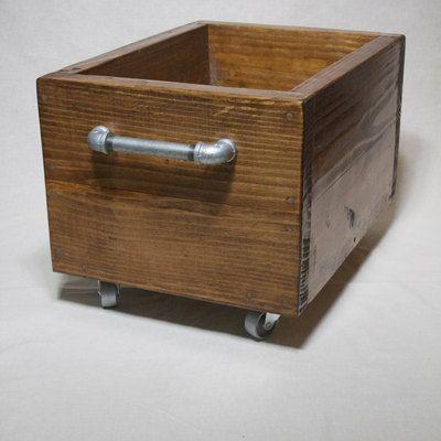 Industrial Storage Box On Wheels Wood Storage Bin On Casters Industrial Box With Castors Wooden Toy Box Industrial Wooden Storage Bins Wooden Storage Boxes Storage Box On Wheels