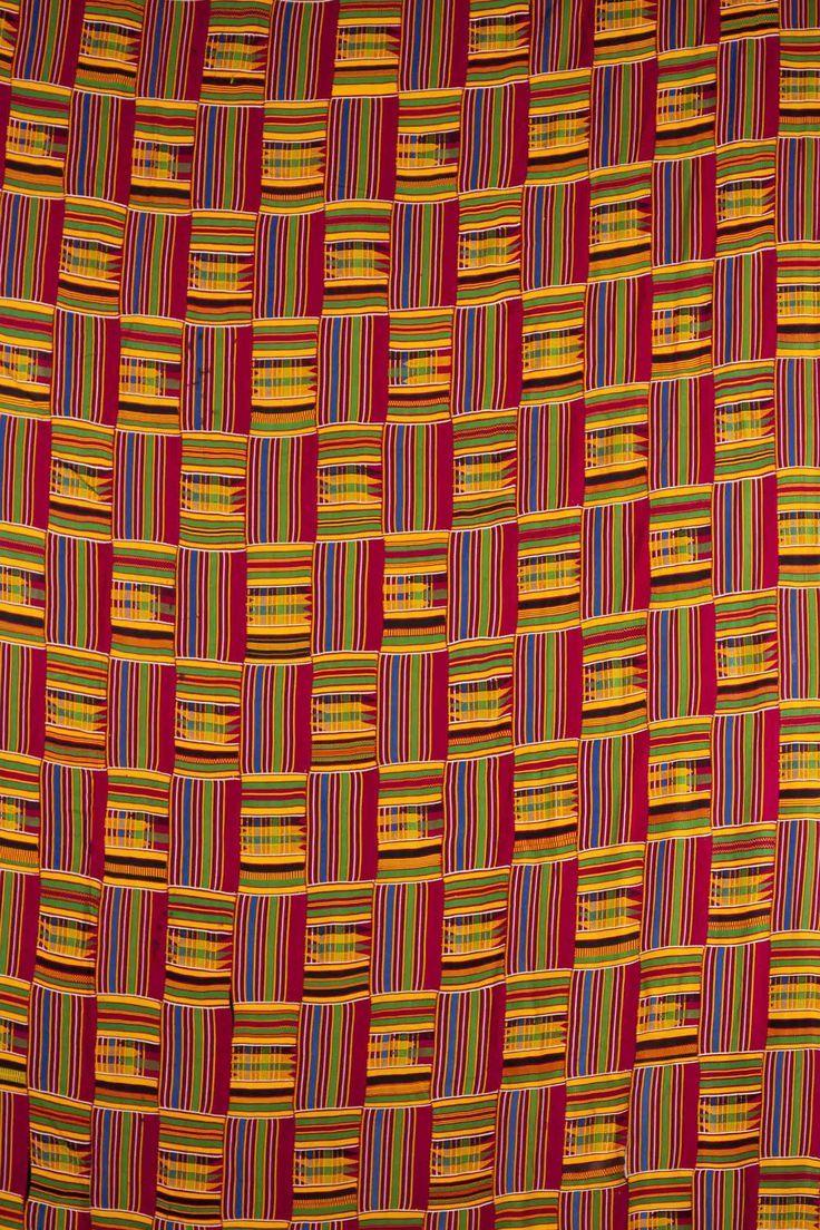 Africa | An Ashanti Kente strip woven cloth | Silk cotton ...