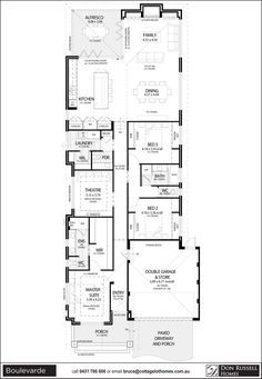 Single Story Narrow Lot House Plans Dream Home