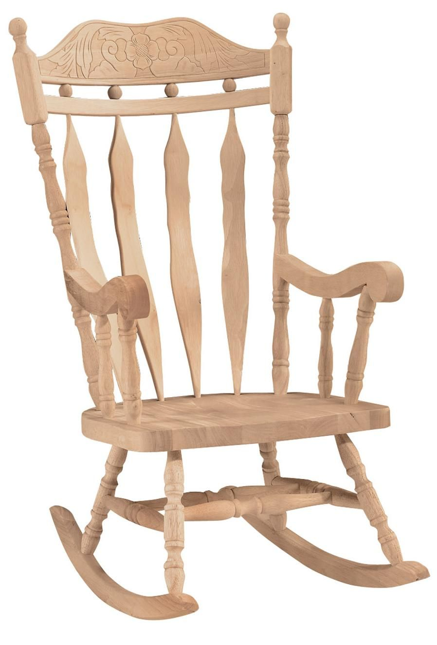 Charmant Carved Back Rocker Available At Rowan Oaks Furniture And Painting  #rowanoaksfurniture