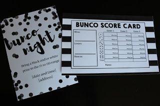 Utah County Mom Black And White Bunco Theme With Free Printables