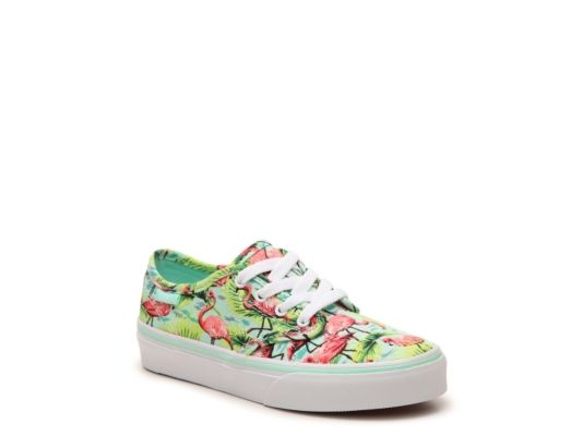 15801852063 Women s Vans Camden Flamingo Girls Toddler   Youth Sneaker - Mint Green Pink
