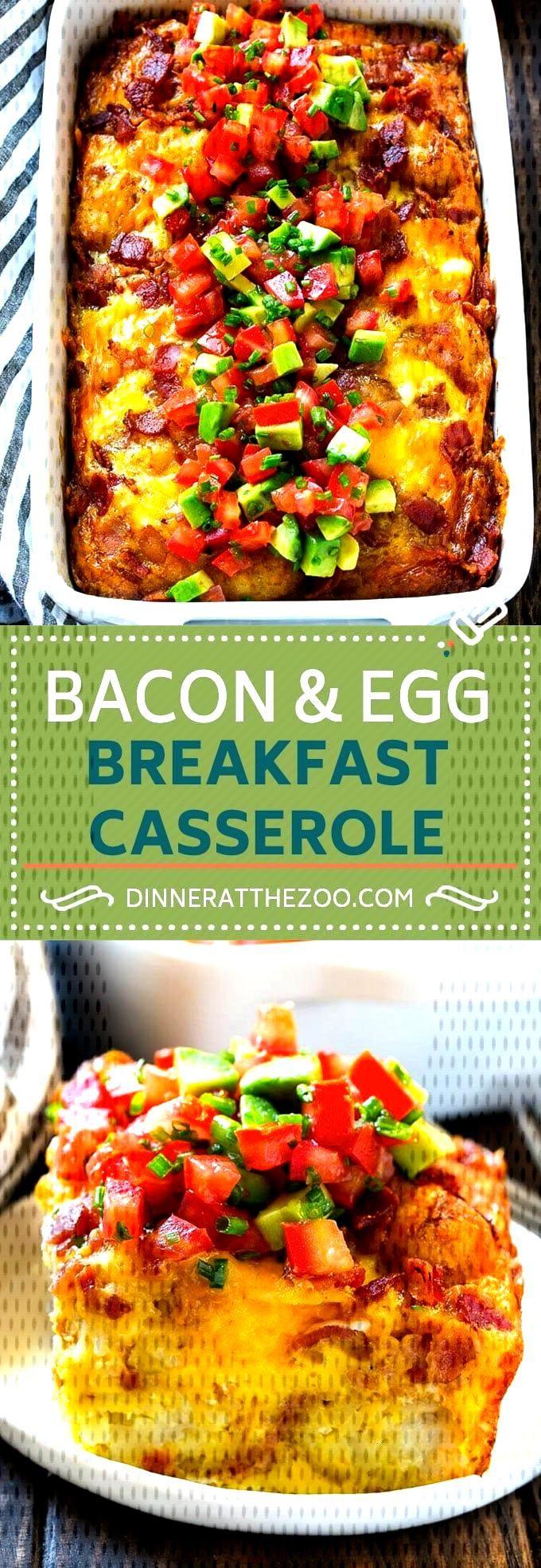 Breakfast Casserole with Bacon Recipe   Breakfast Casserole Recipe   Bacon and Egg Casserole   Egg