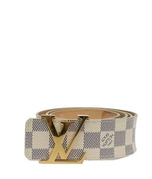 c7e96d57661e Get the lowest price on Louis Vuitton Damier Azur Logo Buckle Belt