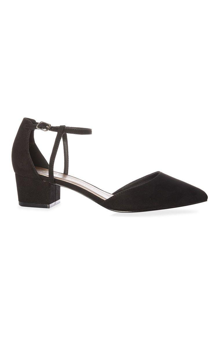 d12d3e34bf Primark - Sapatos de salto baixo tira tornoz preto Sapatos Da Moda
