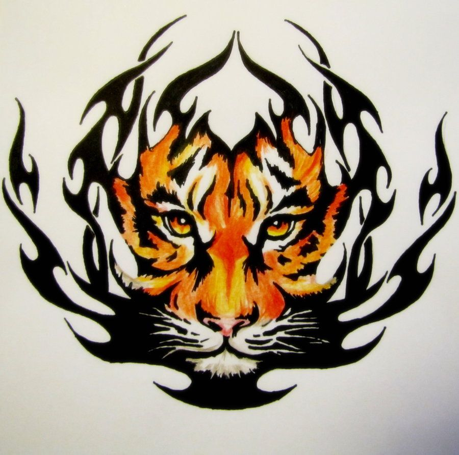 tribal tiger by bekkatora watch traditional art body art ...