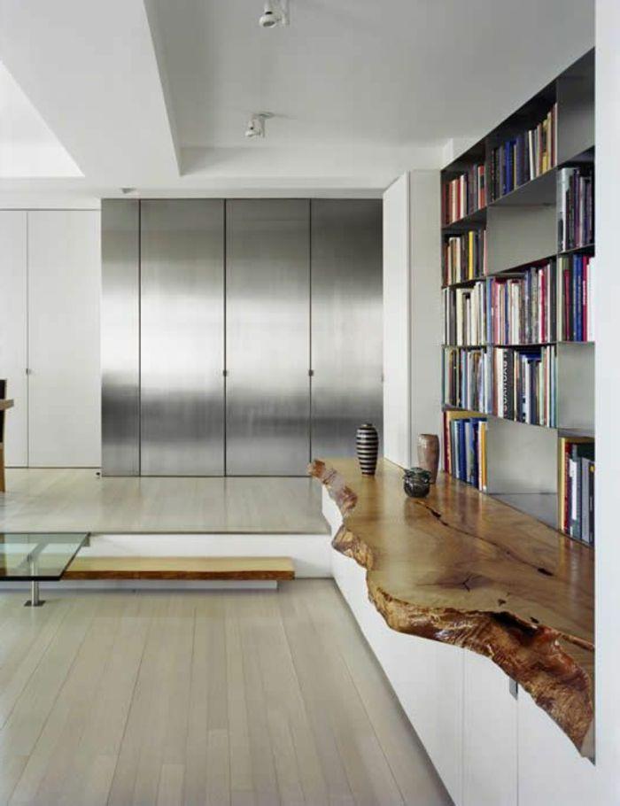 Les meubles en bois brut sont une jolie touche nature pour l