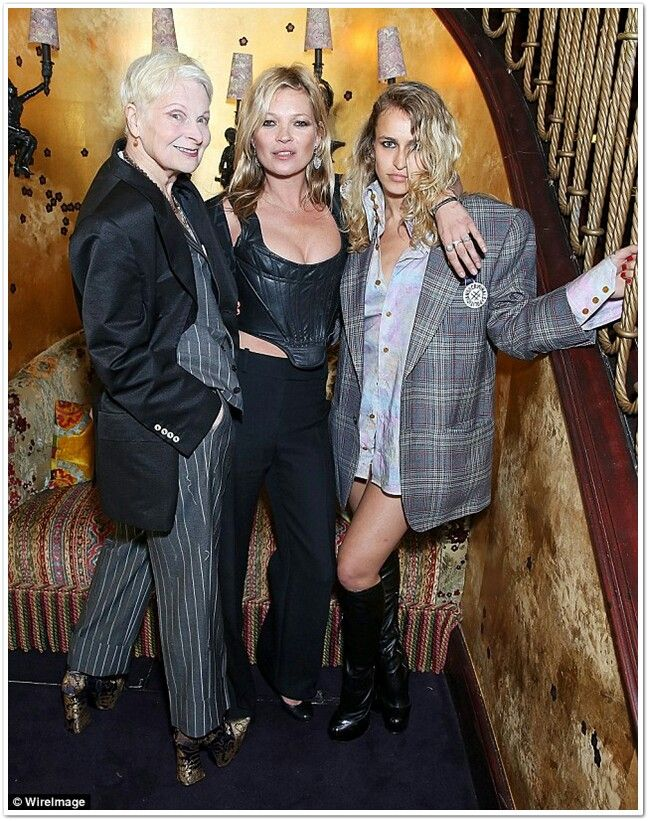 Kate, Vivienne Westwood and Dellal ? At an event June 15.