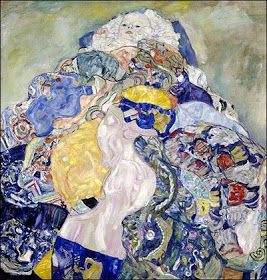 The Cradle, the Baby by Gustav Klimt, 1917-18. Oil on canvas, 110 x 110 cm | National Gallery, Washington