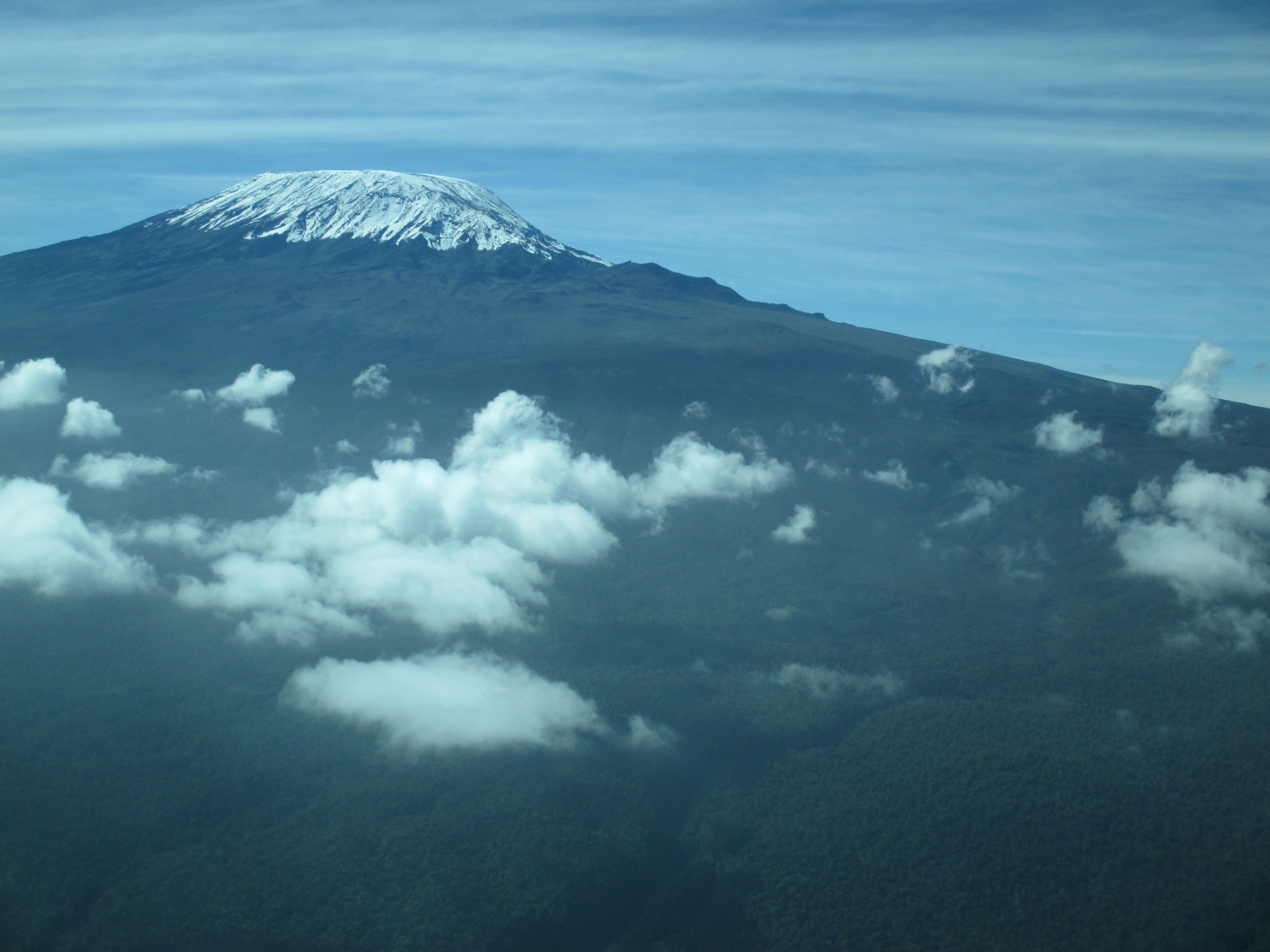 Mount Kilimanjaro in Kenya from a wee plane :-) photo by P.H.Sassoon