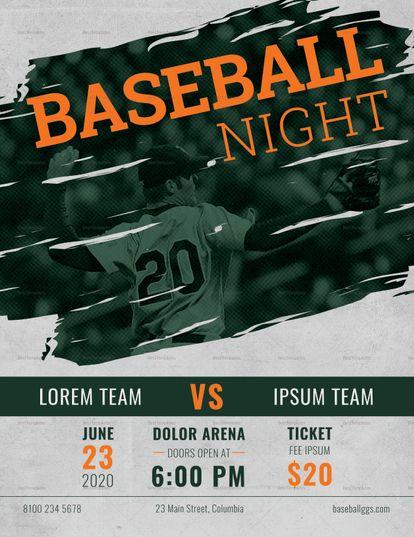 Baseball Flyer Template  Design Flyer Templates