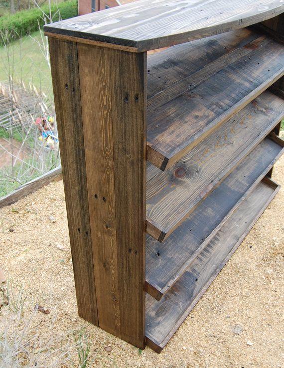 Entryway Table/ Shoe Rack/ Organizer/ Reclaimed Wood | Entrar, Mesas ...