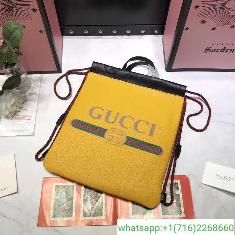 e6dbb4e5c06c Gucci Print small drawstring backpack
