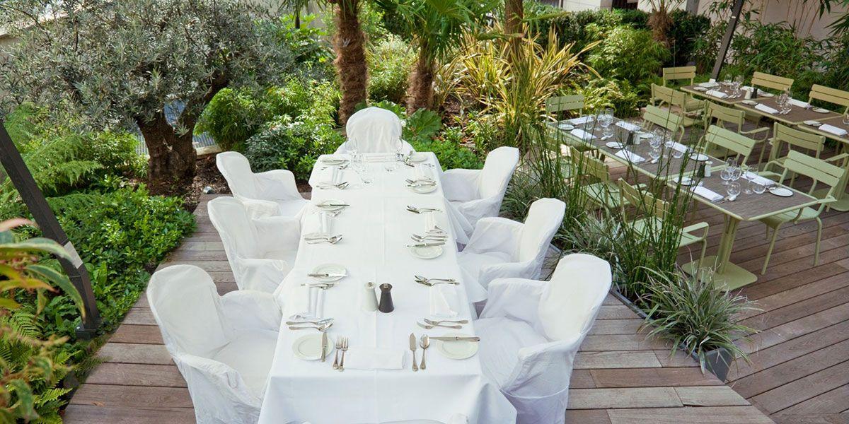 Terrasse la Table du Huit http://www.123terrasse.fr/la-table-du-huit #coffee #bar #restaurant #soleil #terrace #Paris #spot #sun #jardin #garden