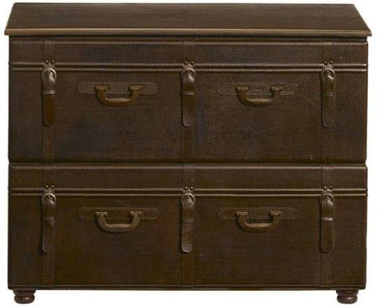 Leather Suitcase File Cabinets