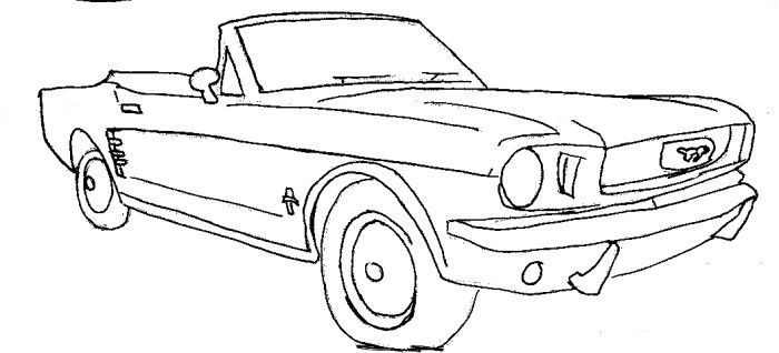semi corvette coloring page