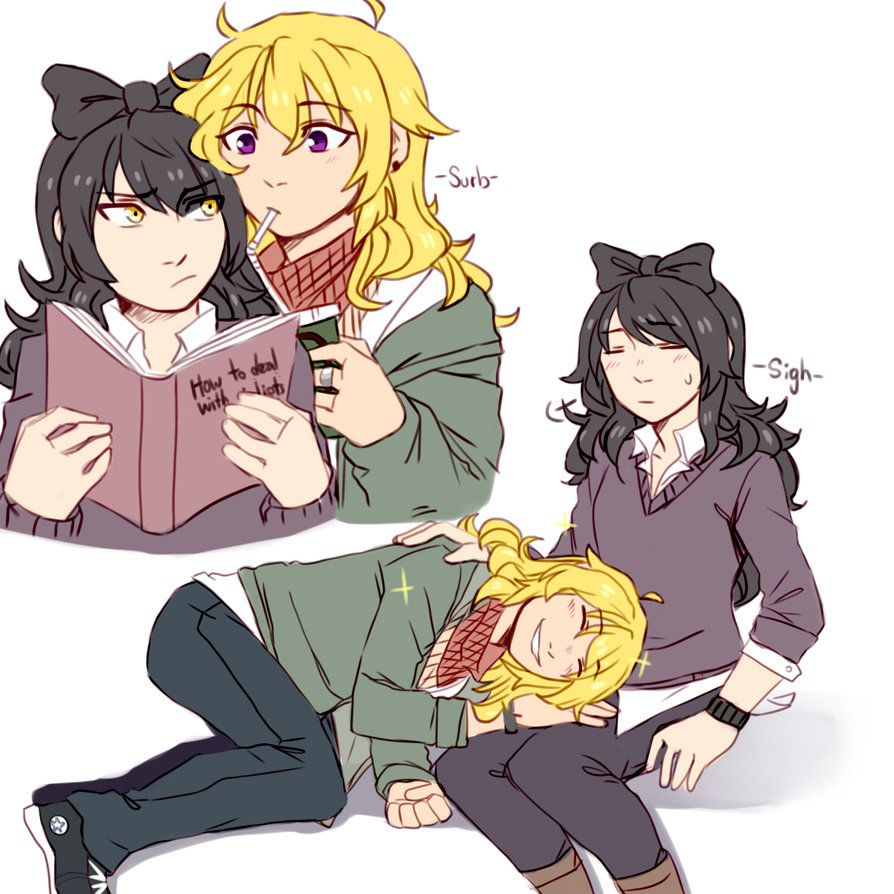 These two are too cute 😍💙 | rwby | Rwby bumblebee, RWBY et ...