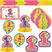 One-Derful Girl 1st Birthday Decorating Kit 10ct from partycity