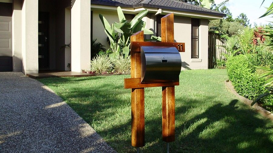 Timber Letterbox Diy Letter Boxes Modern Mailbox