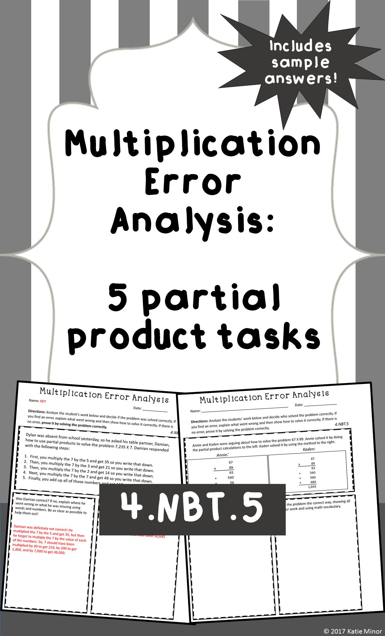 Multiplication Errorysis