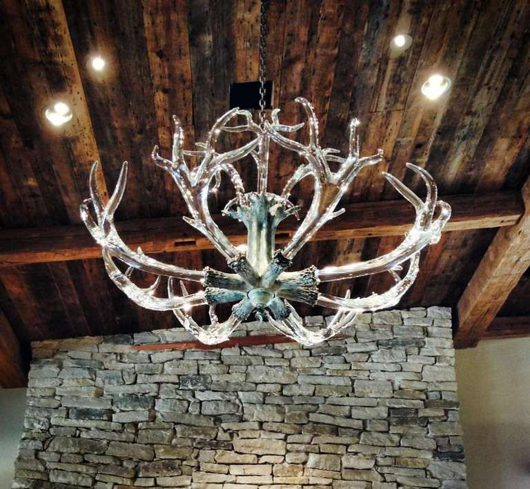 Stunning Huge Crystal Antler Chandelier By Jason Lawson Image 6 4x4 30inches High