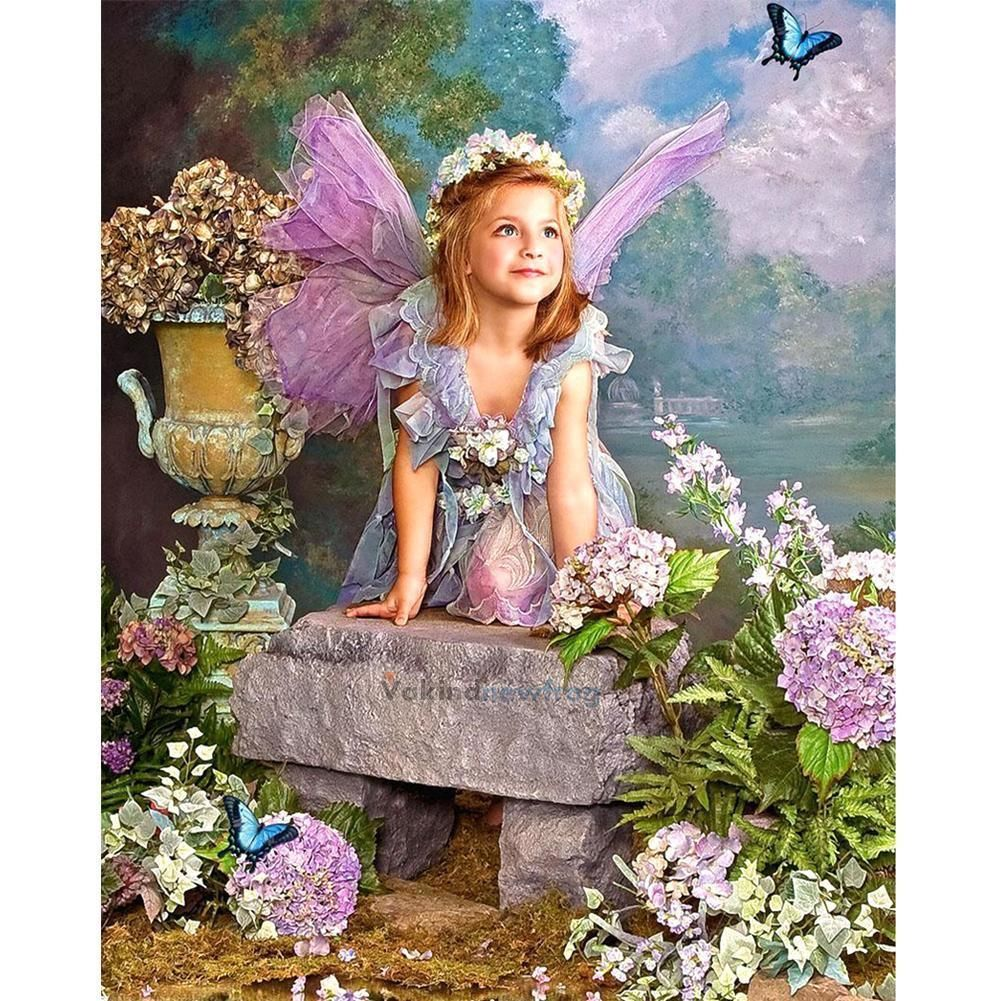 Fairy Girl 5D DIY Diamond Painting Embroidery Cross Crafts Stitch Home Art Decor