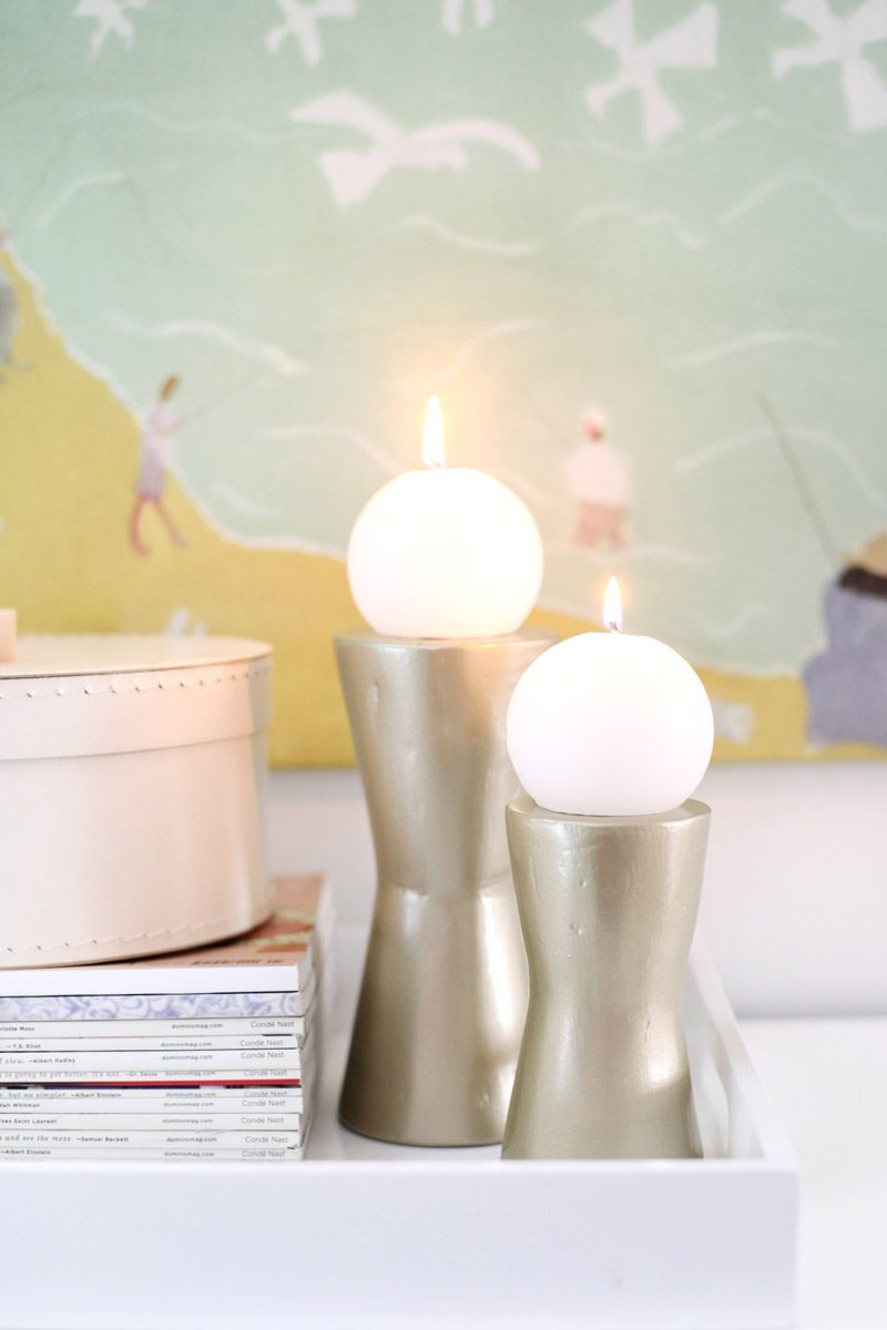 diy modern metallic candle holders  candle light  pinterest  - diy modern metallic candle holders