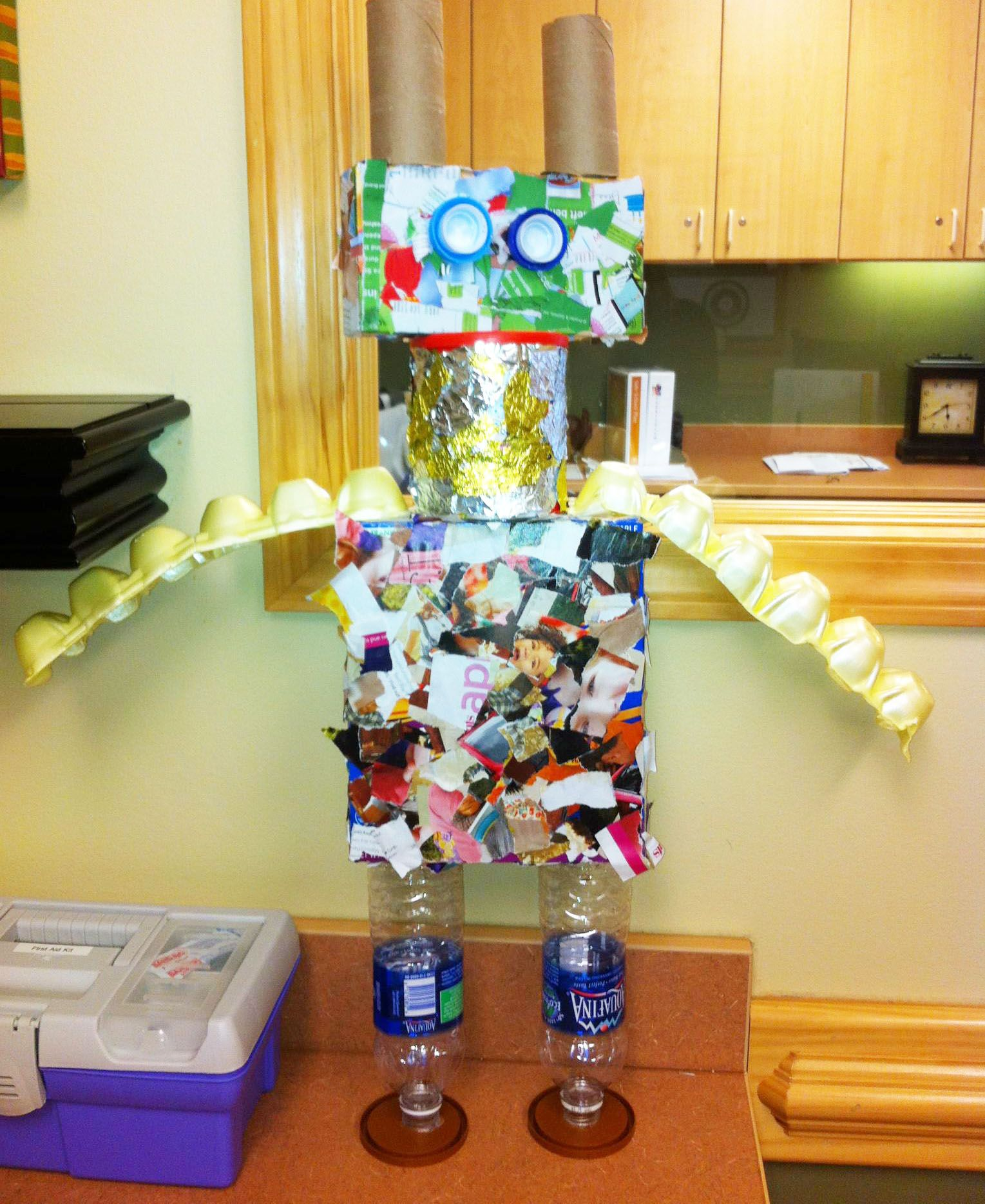 Recycled robot special education uls extension for Recycled items project ideas