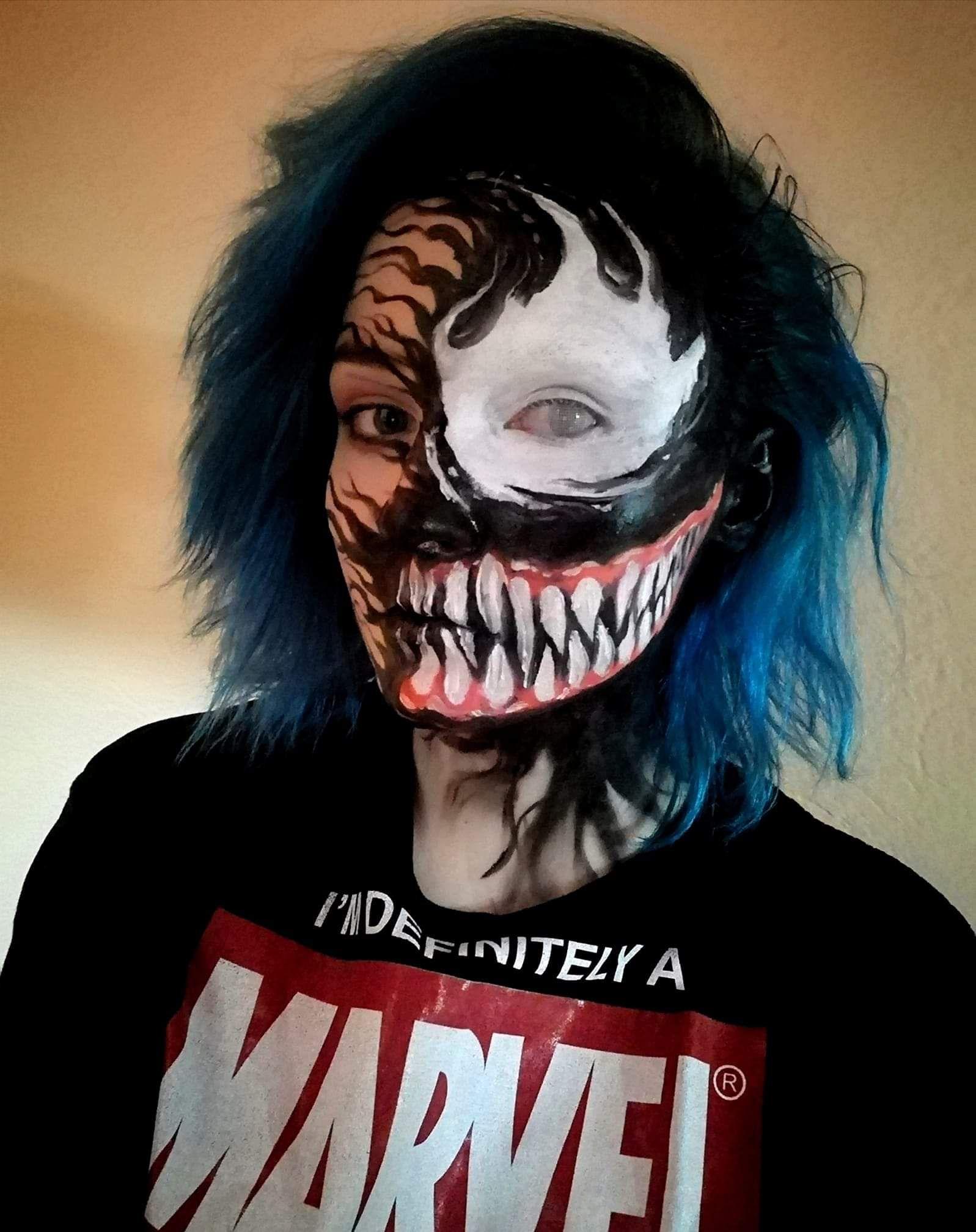 My Venom cosplay from last Halloween Cool halloween