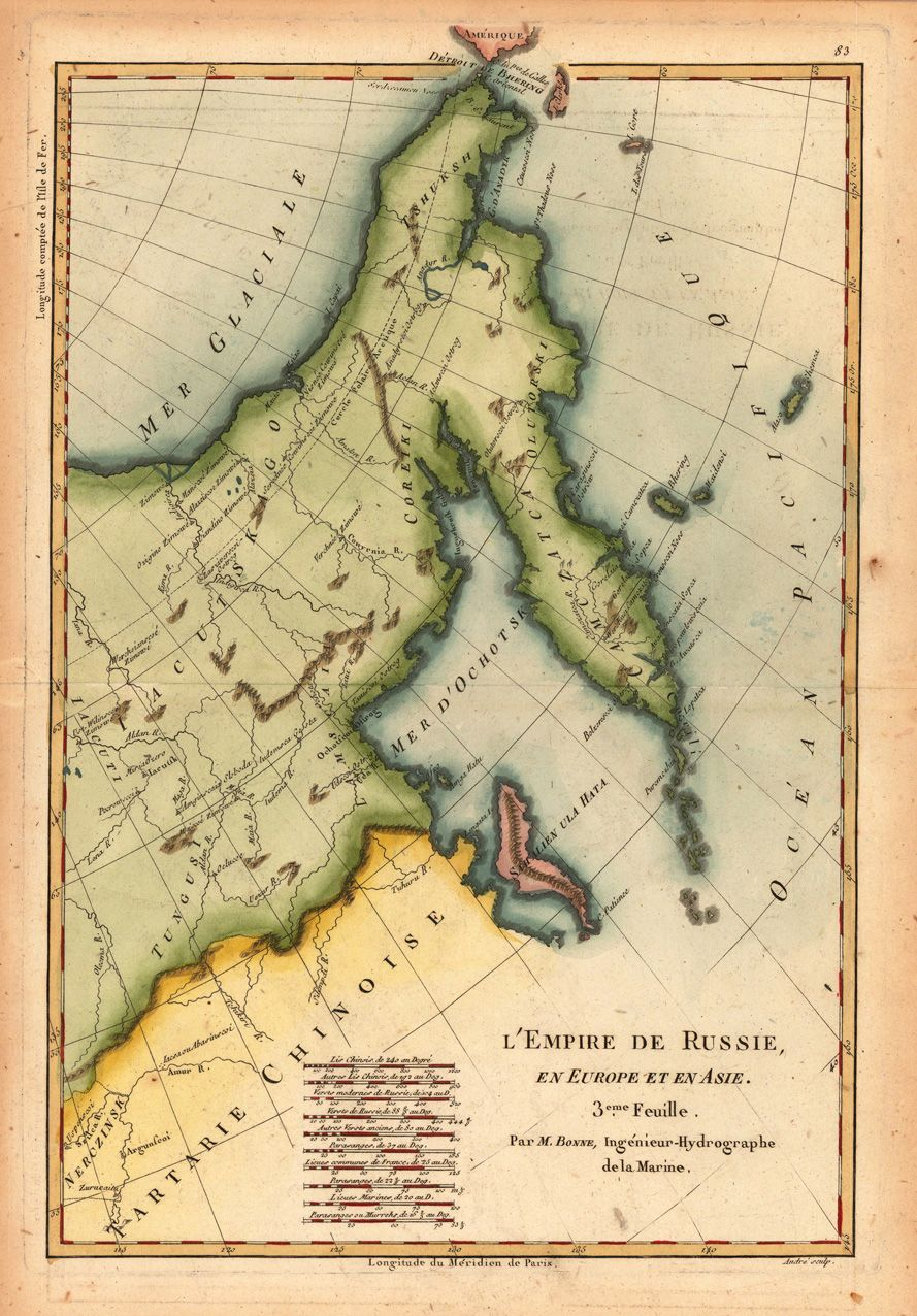 Map Of Europe 1780.A Map Of Kamchatka Tartary From The Russian Empire In Europe And