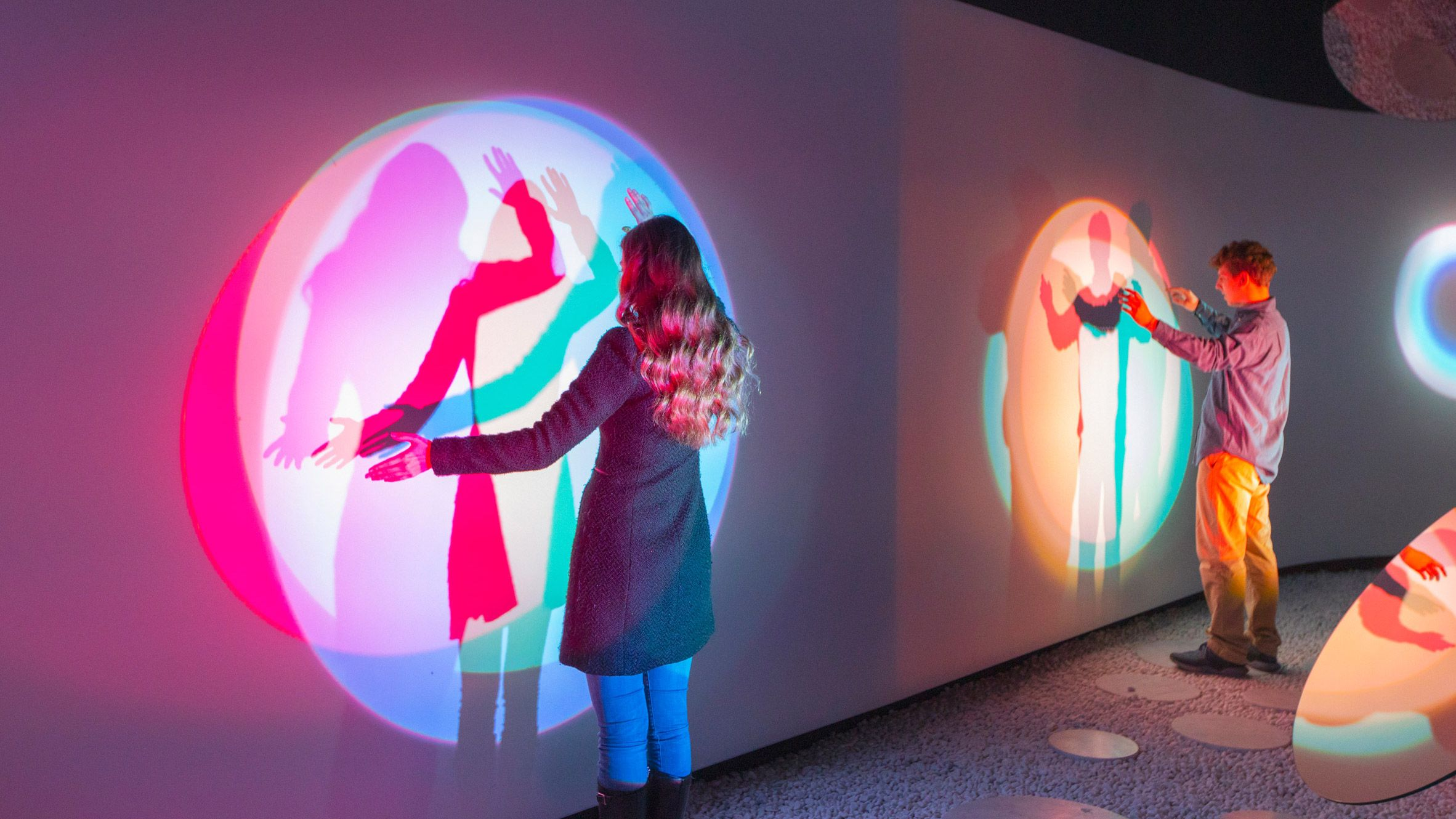 Samsung has created an interactive installation, called Resonance, that allows visitors to create art by breathing, talking and moving.